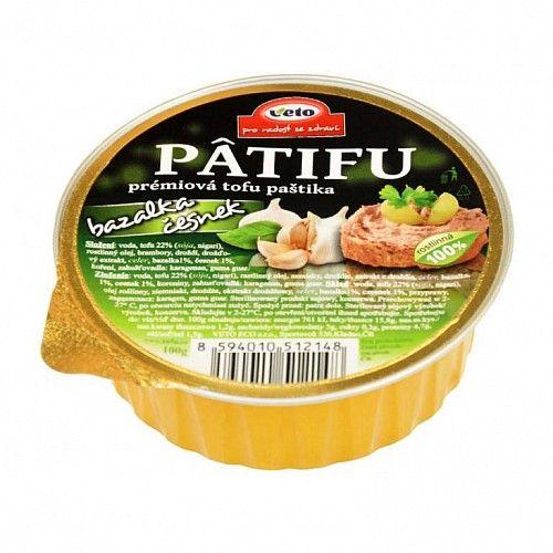 PÂTIFU Tofu paštika bazalka, cesnak 100g Veto Eco 1