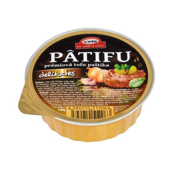 PÂTIFU Tofu paštika delikates 100g Veto Eco 1