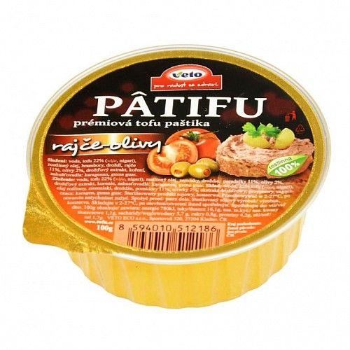 PÂTIFU Tofu paštika paradajky, olivy 100g Veto Eco 1