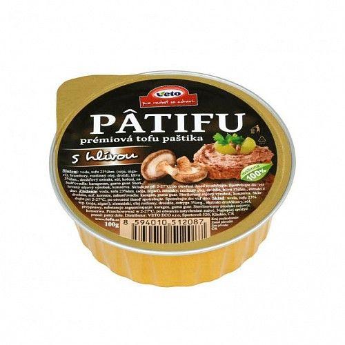 PÂTIFU Tofu paštika s hlivou 100g Veto Eco 1