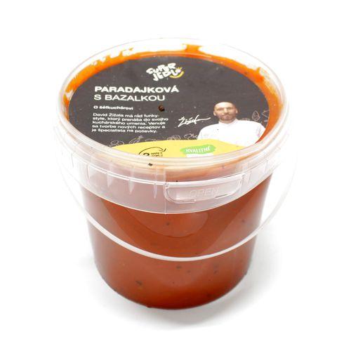 Paradajková poliev. s bazalkou 500g, Super Jedlo 1