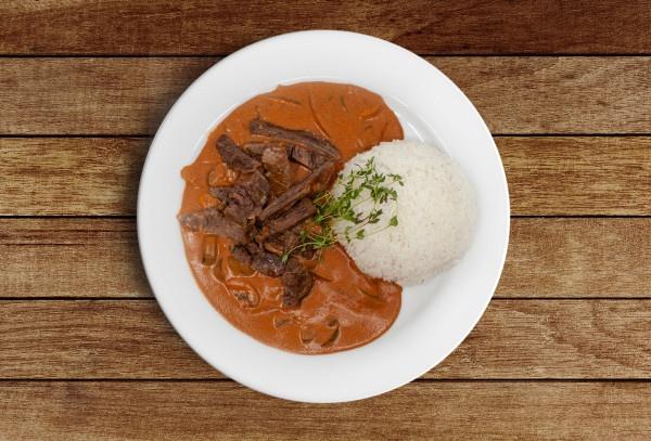 Hov.stroganov, jazmínová ryža 530g, Super Jedlo 2