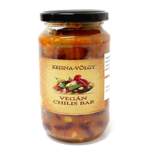 Vegan Omáčka chilli fazule, Krisna-völgy 350g 1