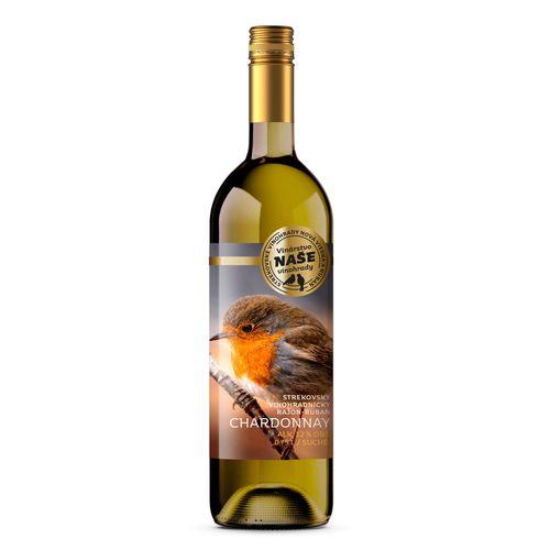 Víno b. Chardonnay, Naše vinohrady 0,75l SK 1