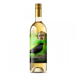 Víno b. Muškát žltý, Naše vinohrady 0,75l SK 12