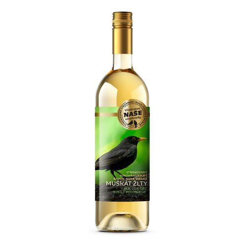 Víno b. Muškát žltý, Naše vinohrady 0,75l SK 1