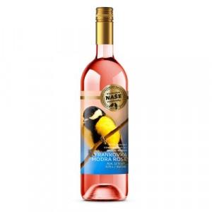Víno r. Frank. modrá Rosé, Naše vinohrady 0,75l SK 17