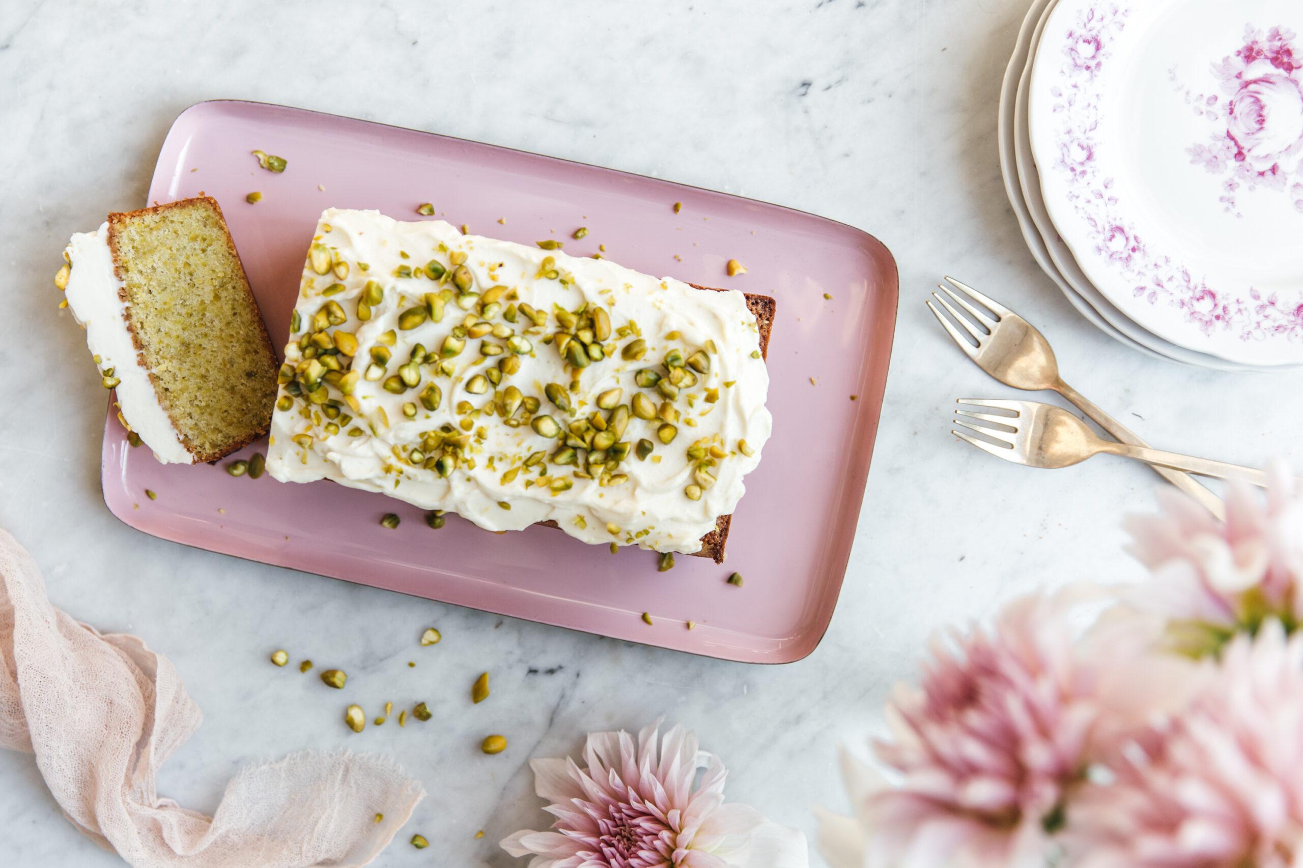 Pistáciový chlebíček s mascarpone