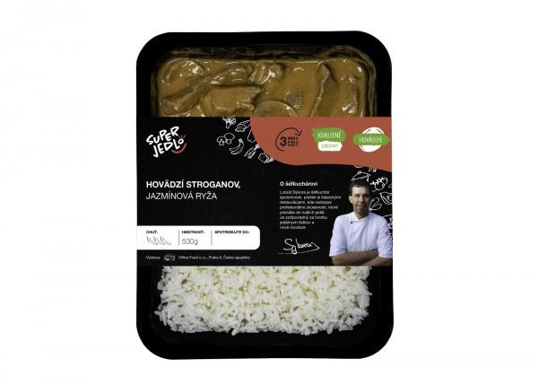 Hov.stroganov, jazmínová ryža 530g, Super Jedlo 1