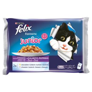 Felix Fantastic Junior kura a losos v želé 4x100 g 5