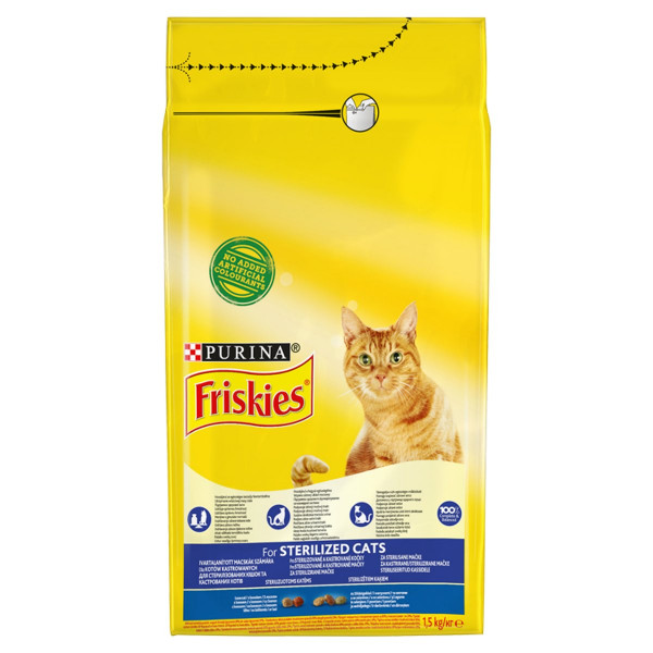 Friskies Sterile Cat losos so zeleninou 1,5 kg 1