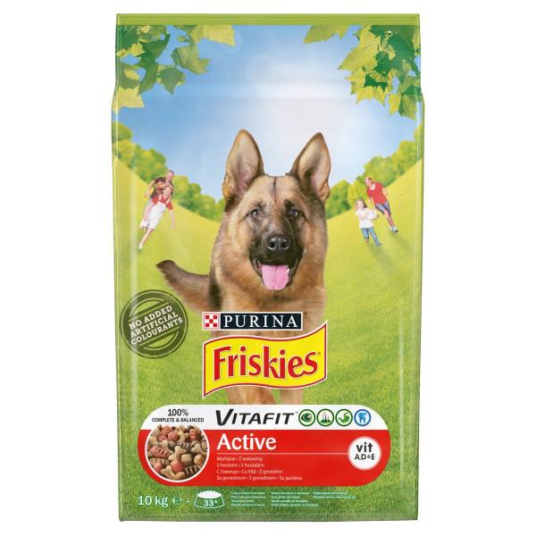 Friskies VitaFit Active hovädzím granule 10 kg 1