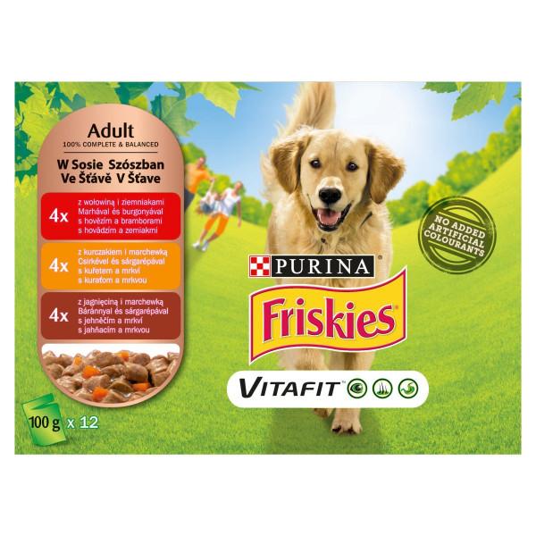 Friskies PES VITAFIT mäsový mix v šťave 12x100 g 1