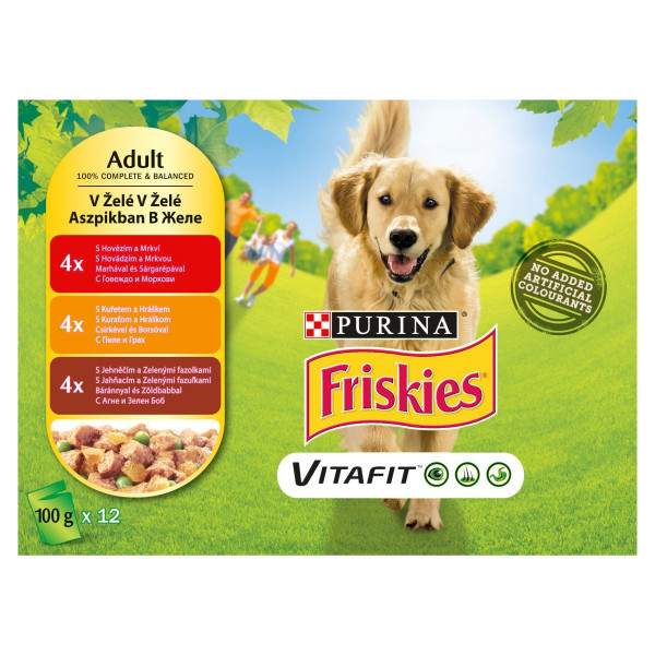 Friskies PES VITAFIT mäsový mix v želé 12x100 g 1