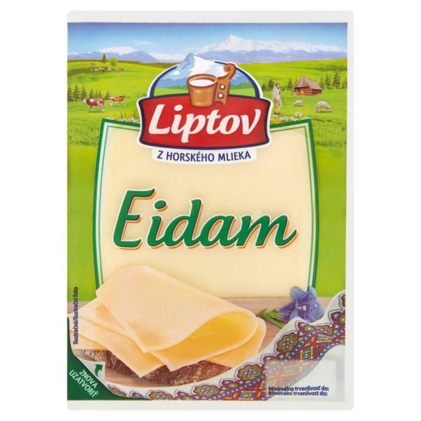 Syr 45% Eidam neúdený živočíšny plátky LIPTOV 100g 1