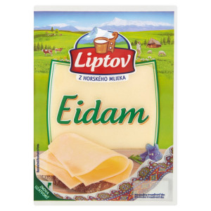Syr 45% Eidam neúdený živočíšny plátky LIPTOV 100g 6
