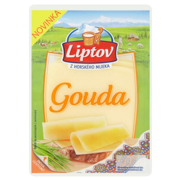 Syr 45% Gouda živočíšna plátky LIPTOV 100g 1