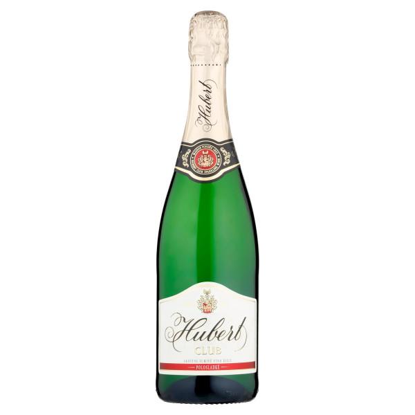 Víno šumivé b. polosladké Hubert Club 0,75l 1