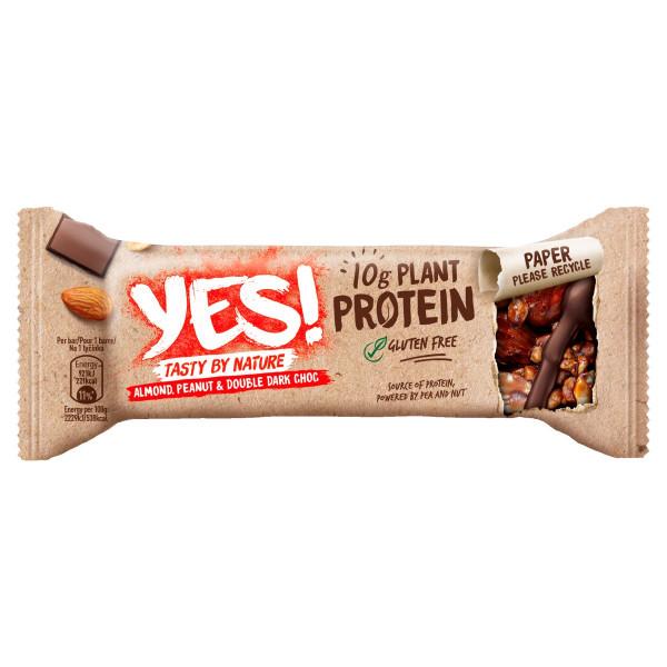 YES! Proteínová tyčinka orechy a hor.čokoláda 45g 1