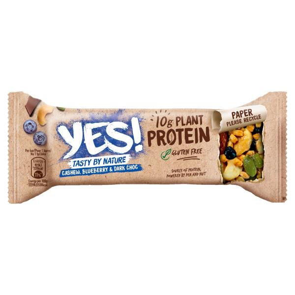YES! Proteínová tyčinka kešu,čučoried,čokoláda 45g 1