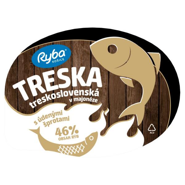Treska v majonéze Treskoslovenská so šprotami 140g 1