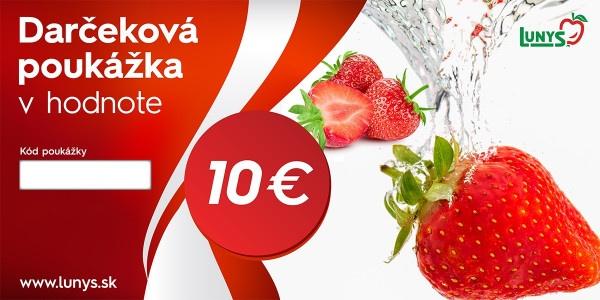 Darčekový poukaz 10 EUR eshop 1