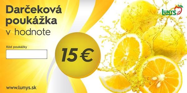Darčekový poukaz 15 EUR eshop 1