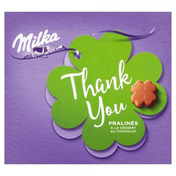 Milka Thank You bonboniéra, kakaová náplň 110 g 1