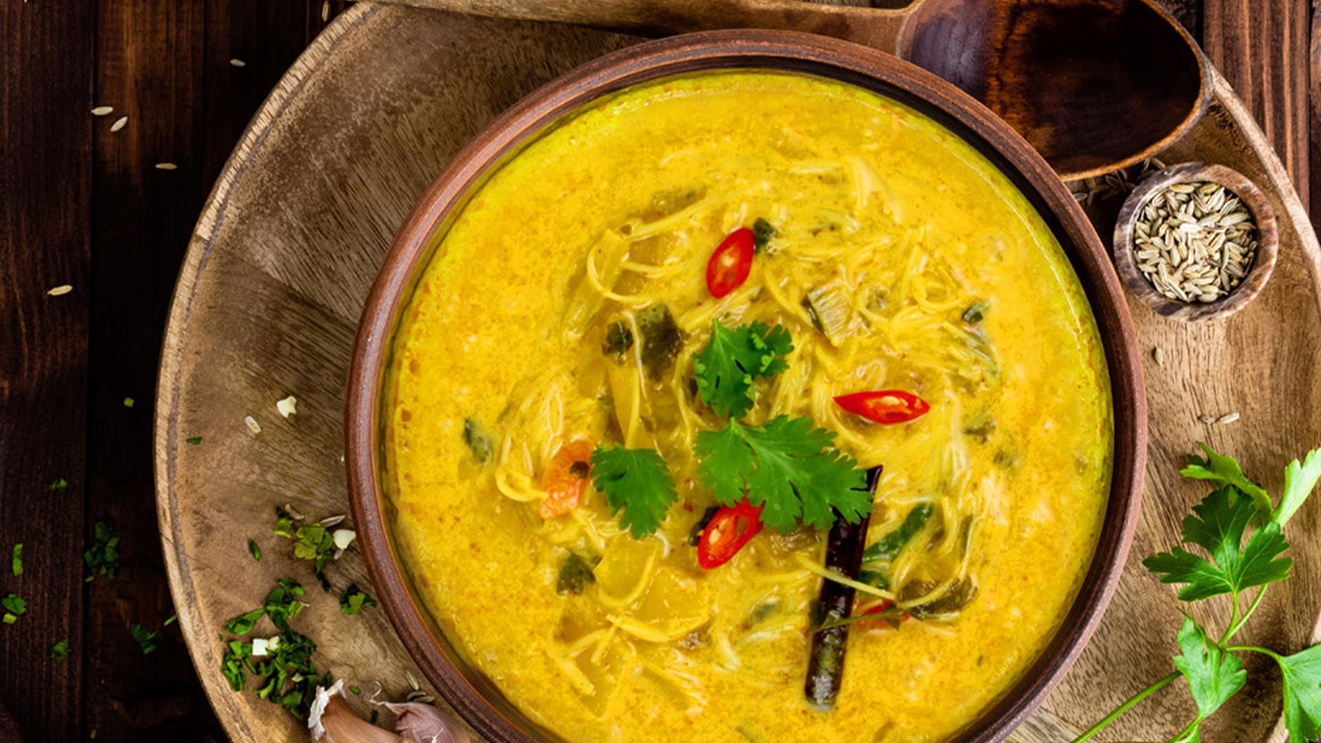 Thajská kokosová polievka