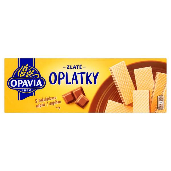 Opavia Zlaté Oplátky čokoládová náplň 146 g 1