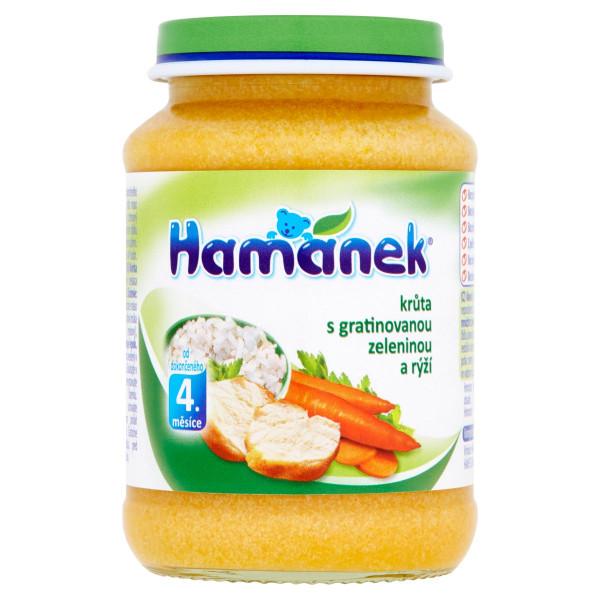 Hamánek Morka s gratinovanou zeleninou, ryžou 190g 1