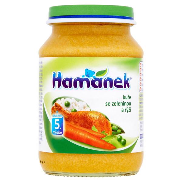 Hamánek Kurča so zeleninou a ryžou 190 g 1