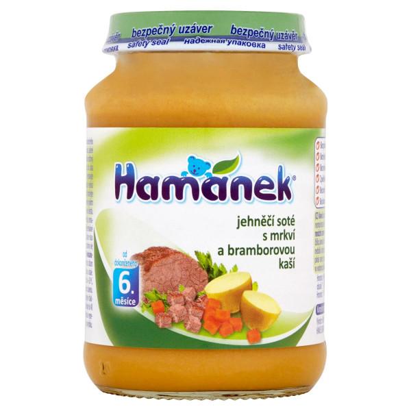 Hamánek Jahňacie soté s mrkvou a zemiak.kašou 190g 1