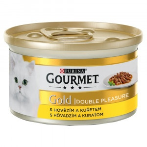GOURMET Gold Double Pleasure hovädzíe a kura 85 g 3