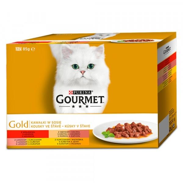 GOURMET Gold Multipack kúsky v šťave 12 x 85 g 1