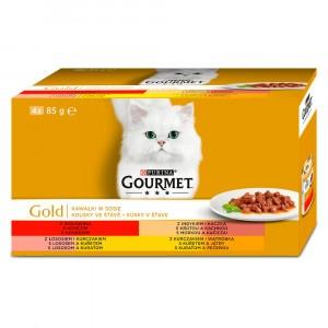 GOURMET Gold Multipack kúsky v šťave 4 x 85 g 15