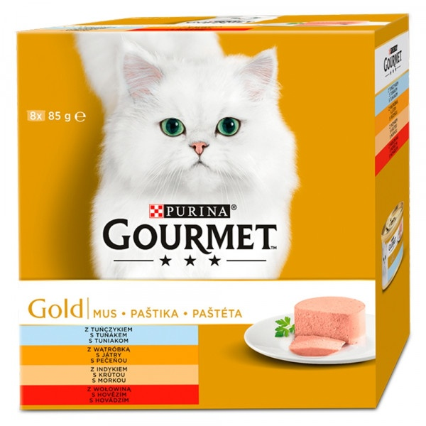 GOURMET Gold Multipack paštéta 8 x 85 g 1