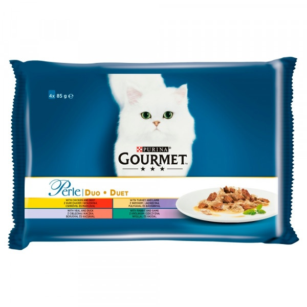 GOURMET Perle Multipack DUO mäsový mix 4 x 85 g 1