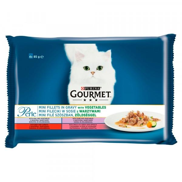GOURMET Perle Multipack filety a zelenina 4 x 85 g 1