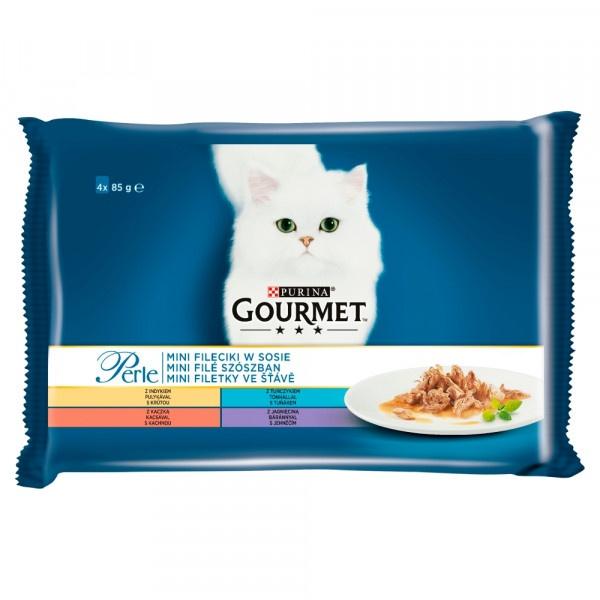 GOURMET Perle Multipack Mix mini filetky 4 x 85 g 1