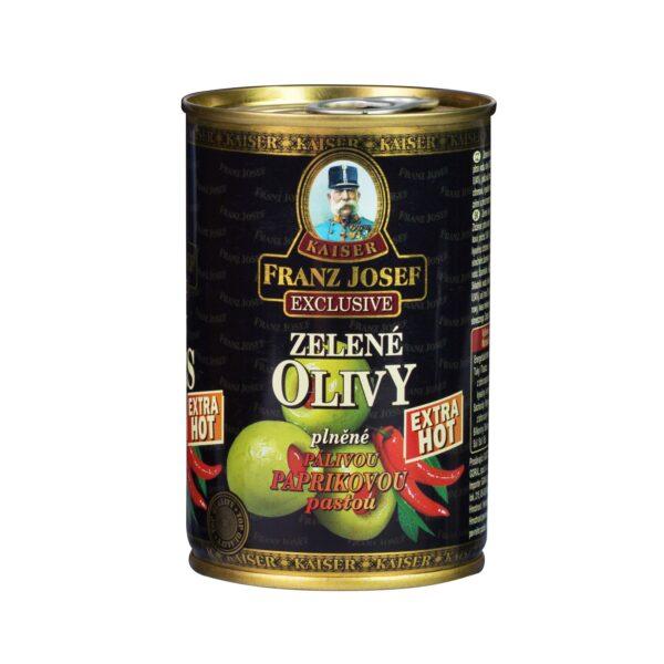 Olivy zelené s papričkou Franz Josef Kaiser 300g 1