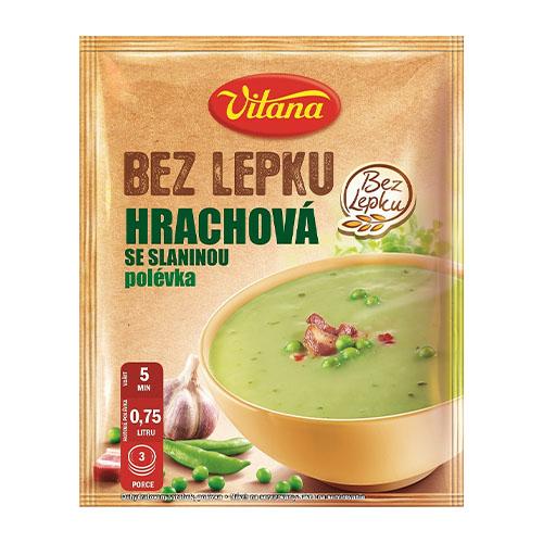 Vitana Bezglutén.hrachová polievka so slaninou 74g 1