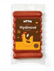 Párky Hydinové300g VB, Hyza 23