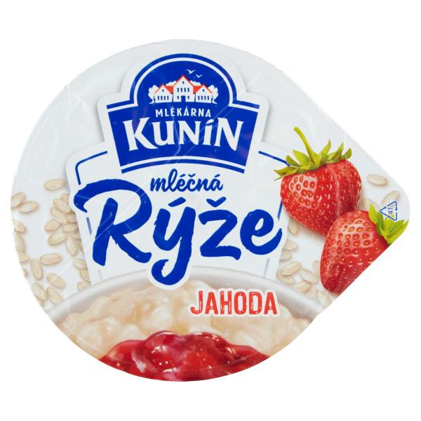 Mliečna ryža jahoda KUNÍN 175g VÝPREDAJ 1