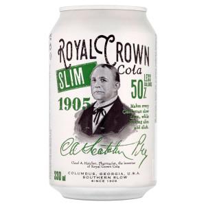 Cola Royal Crown Slim 0,33l plech 12