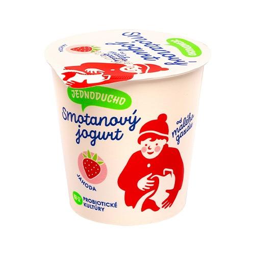 Jednoducho smotanový jogurt jahoda Malý Gazda 140g 1