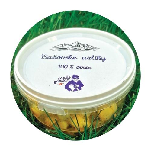 Nakladané syrové uzlíky bylinkové Malý Gazda 150g 1