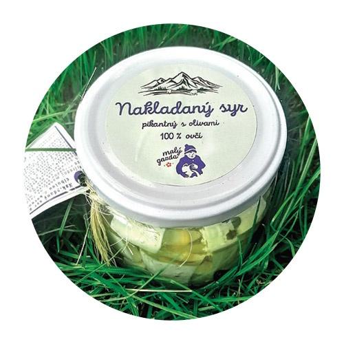 Nakladaný ovčí syr pikant s oliv. MG 250g VÝPREDAJ 1