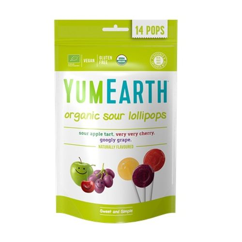 YumEarth Bio ovocné lízanky kyslé 85 g 1