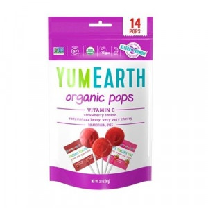 YumEarth Bio ovocné lízanky  s vitamínom C 87 g 12